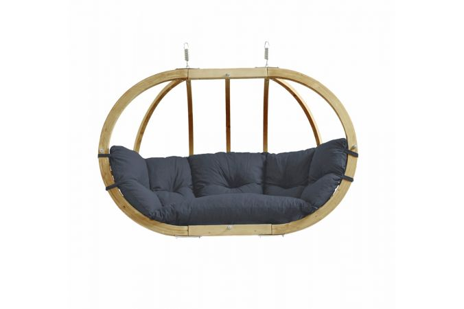 Hanging Chair Double 'Globo Royal' Anthracite