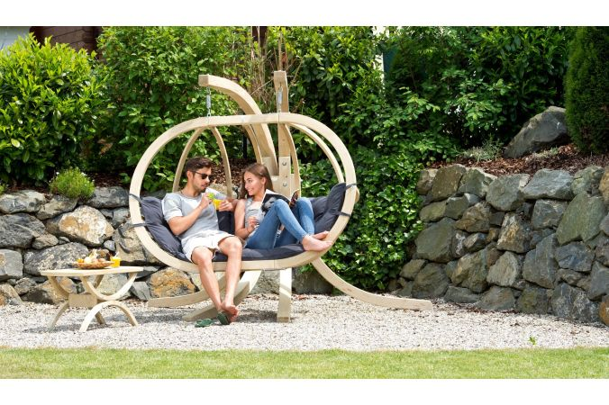 Hanging Chair with Stand 'Globo Royal' Anthracite