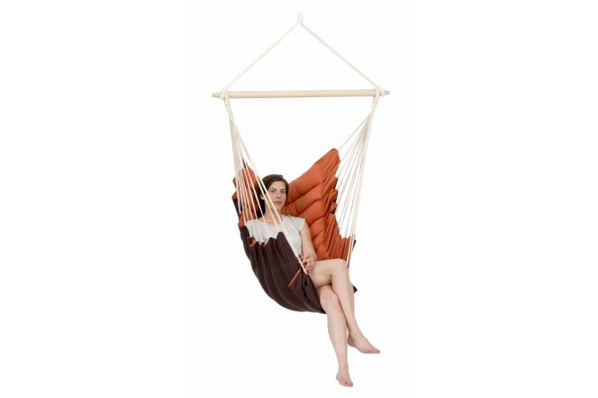 Hanging Chair Single 'California' Terracotta