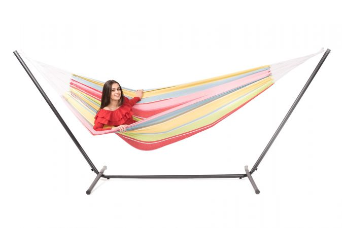 Hammock with Double Stand 'Easy & Barbuda' Orient