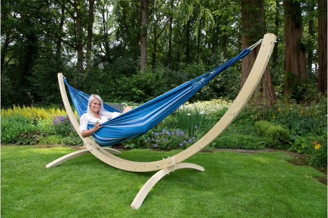 Hammock with Double Stand 'Wood & Chill' Calm