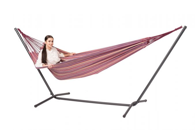 Hammock with Double Stand 'Easy & Barbuda' Andalusia