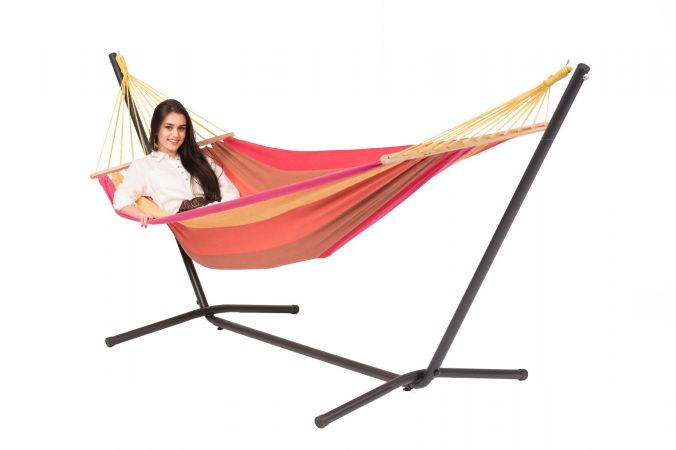 Hammock with Single Stand 'Easy & Martinique' Sunset