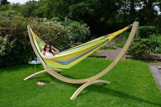 Hammock with Family Stand 'Wood & Refresh' Cocktail