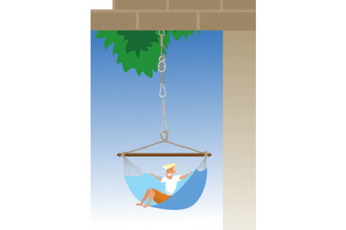 Hanging Chair Fixation 'Complete' Black