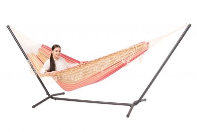 Hammock with Double Stand 'Easy & Tortuga' Earth