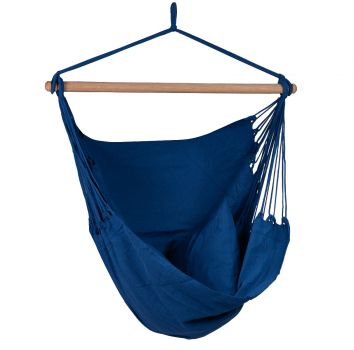 Hanging Chair Single 'Organic' Blue