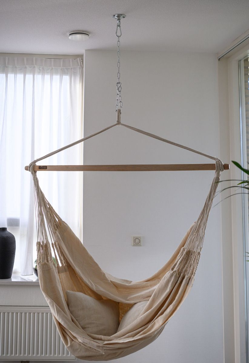 Hanging Chair Double Luxe White