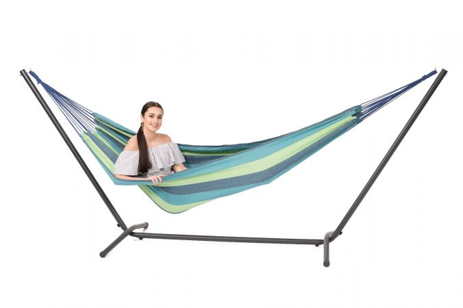 Hammock with Single Stand 'Easy & Margarita' Pine