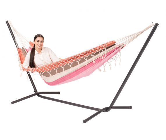 Hammock with Single Stand 'Easy & Grenada' Lychee