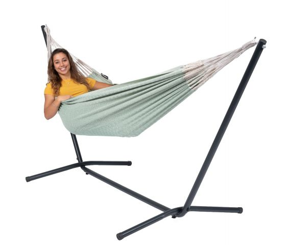 Hammock with Single Stand 'Easy & Natural' Green