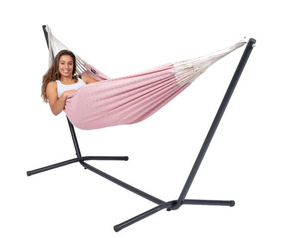 Hammock with Single Stand 'Easy & Natural' Pink
