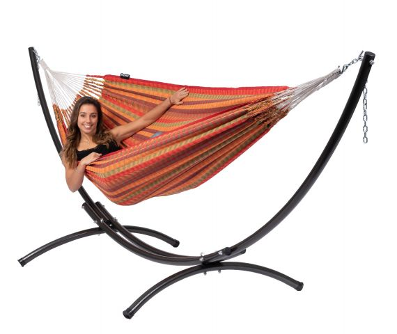 Hammock with Double Stand 'Arc & Premium' Melon