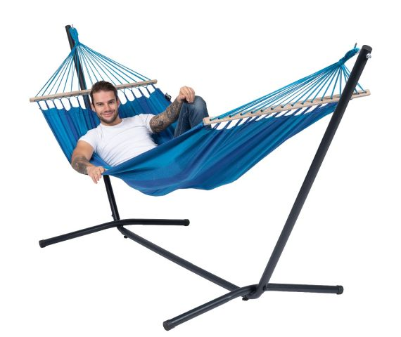 Hammock with Single Stand 'Easy & Relax' Blue