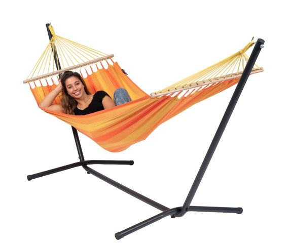 Hammock with Single Stand 'Easy & Relax' Orange