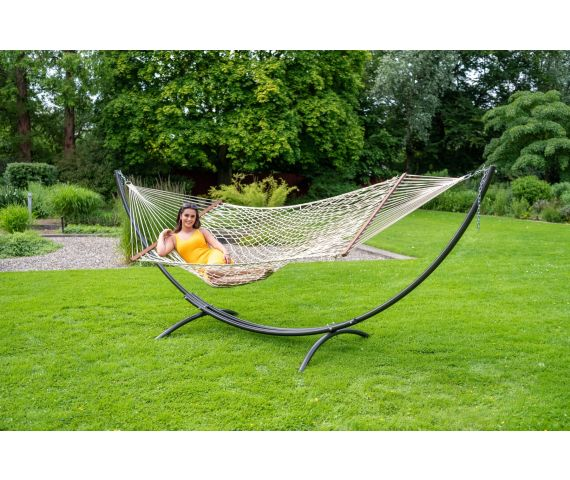 Hammock with Family Stand 'Arc & Rope' Natura