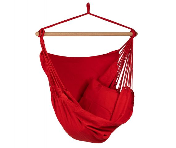Hanging Chair Single 'Organic' Red