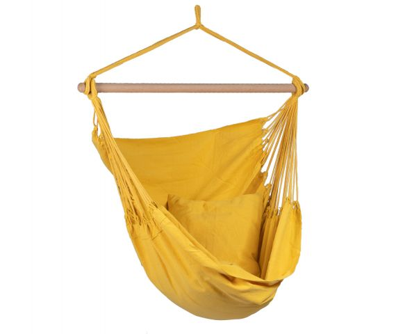 Hanging Chair Single 'Organic' Yellow