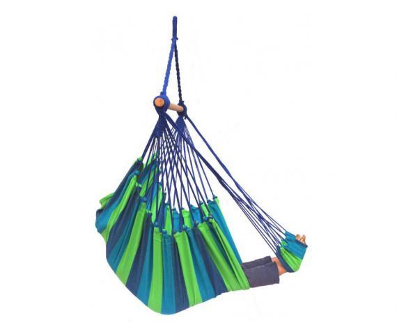Hanging Chair Single 'Tropical' Pine Lounge