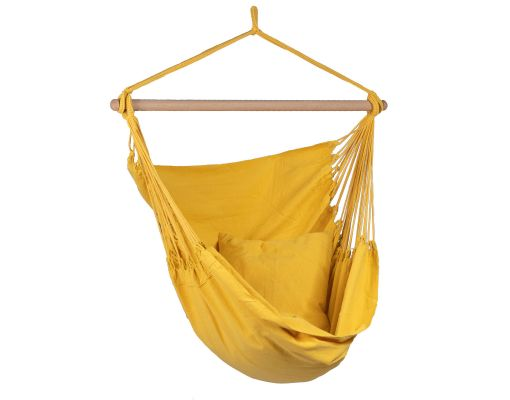 Hanging Chair Single 'Organic' Yellow